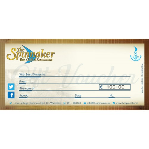 The Spinnaker Christmas Voucher Special Offer