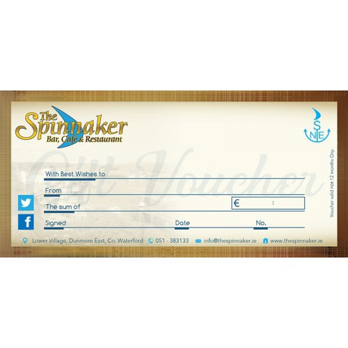 The spinnaker gift voucher the spinnaker bar restaurant the spinnaker gift voucher solutioingenieria Image collections