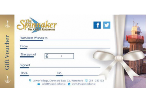 The Spinnaker November Gift Voucher Special Offer
